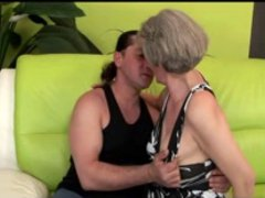 Saggy Tits Grey Haired Granny Fucks