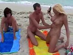 Nikki Hunter Plays with Guys at Nude Beach 1 by snahbrandy