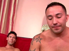 Str8 Latino who is a stripper for bachelorette parties hooks up with Latino coworker and buddy.