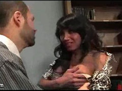 Black shemale hottie gets banged