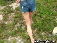 Brunette Ex Strips Down Naked On Camping Trip