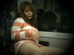 Young Woman caught masturbating in train