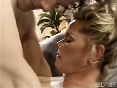 Classic action with a sexy blonde MILF that trades some head before a vintage fuck