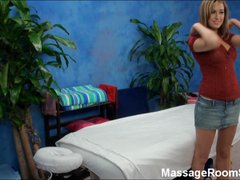 Shy Teen Gets Fucked on Massage Table