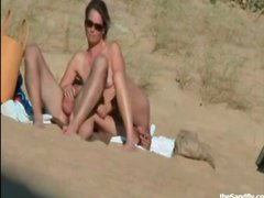 Public beach compilation with naughty couples caught having sex on the beach