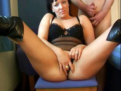 Chubby Rebecca is a paid escort and takes care of her cock
