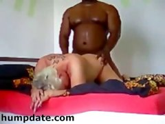Blonde mature babe gets doggystyled by bbc