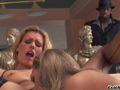 Brianna Love and Darryl Hanah are passionate fair-haired lesbians who