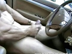 R0b3rt V@n D@mm3 Solo Jack Off in Car