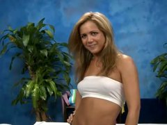 Hot blonde ashley seduced by a client