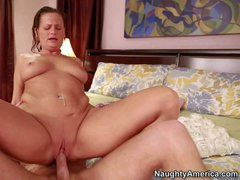 Becca Blossoms is a horny mature mom of his best