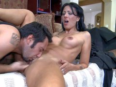 Dark haired and horny babe Zoey Holloway gets down on