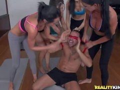 Gorgeous sporty ladies Diana Price, Jewels Jade, India Summer and