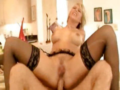 Kayla Synz gets DPed by two well hung plumbers