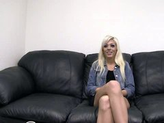 White haired amateur girl Bethany is full of enthusiasm to
