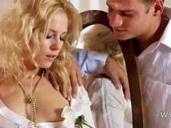 sweet blonde copulating hard in bedroom