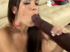 Big Black Cock Gives Slut Giant Facial