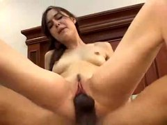 Sasha Grey and the monster black cock going at it