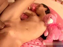 Teenager sleeps as he pounds her pussy