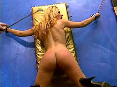 Blonde with nice naturals enjoying a BDSM session