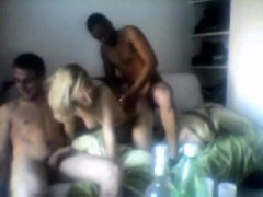 Group of guys gangbang a French amateur