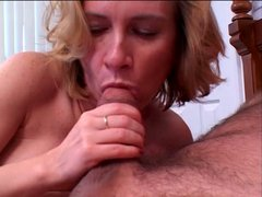 Blonde bitch gets her hairy clam banged