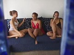 latina teens having fun