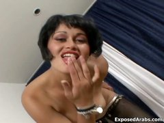 Dirty Arab slut loves showing her nice part1