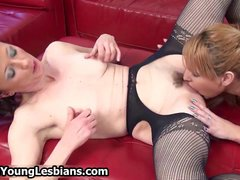 Blonde chick with perfect big part1