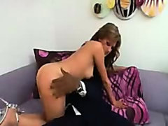 Wife catches her husband and gets aroused!