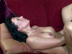 Turned on lusty black haired milfs Zoey Holloway and Nyomi