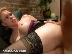 Wife fucked by husband in bdsm anal at home