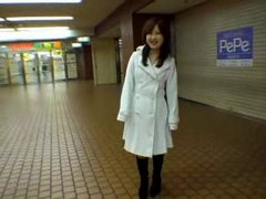 Japanese Teen Showing In Public